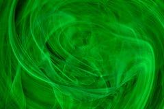 Abstrakter grüner Hintergrund des realen flüssigen Glases Lizenzfreies Stockfoto
