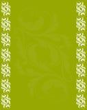 Abstrakter grüner Hintergrund mit antikem Feld Lizenzfreies Stockbild