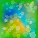 Abstrakter grüner Hintergrund mit bokeh raster Lizenzfreies Stockbild