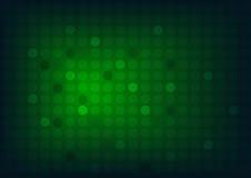 Abstrakter grüner Hintergrund mit Kreisen und breiter undeutlicher heller Stelle Lizenzfreie Stockbilder