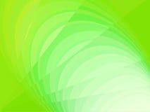 Abstrakter grüner Hintergrund mit Linien und Kreisen Stockfoto