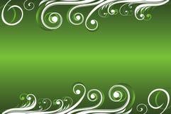 Abstrakter grüner mit Blumenhintergrund Stockfoto