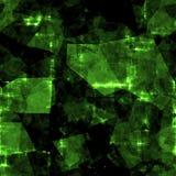 Abstrakter grüner nahtloser Kristallhintergrund Lizenzfreies Stockbild