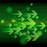 Abstrakter grüner Pfeil Stockfotografie