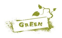 Abstrakter grüner Stempel vektor abbildung