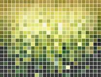 Abstrakter grüner und gelber quadratischer Mosaikhintergrund stock abbildung
