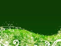 Abstrakter grüner Weihnachtshintergrund Lizenzfreies Stockbild