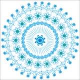 Abstrakter grafischer kreisförmiger blauer Hintergrund für DES Lizenzfreie Stockfotografie