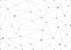 Abstrakter grauer geometrischer Hintergrund mit verbundenen Linien und Punkten stock abbildung