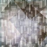 Abstrakter grauer Hintergrund Artsy Rechtecke und Dreieckformen im gelegentlichen Muster Stockfotografie