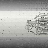 Abstrakter grauer Hintergrundvektor, Illustration für Stockfotos