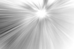 Abstrakter grauer und weißer Radialunschärfehintergrund Stockbilder