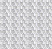 Abstrakter Gray Cube Seamless Pattern Stockfotografie