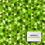 Abstrakter grüner Dreieckhintergrund Lizenzfreies Stockbild