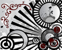 Abstrakter grunge Hintergrund 2 stock abbildung