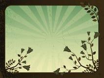 Abstrakter grunge Hintergrund - mit Blumen Lizenzfreies Stockfoto