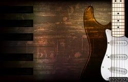 Abstrakter grunge Hintergrund mit elektrischer Gitarre Lizenzfreies Stockbild