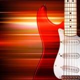 Abstrakter grunge Hintergrund mit elektrischer Gitarre Stockfoto