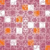 Abstrakter grunge Mosaikflieseraster Lizenzfreies Stockfoto