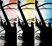 Abstrakter grunge Musikhintergrund Stockbilder