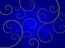 Abstrakter Grunge Strudel auf blauem Hintergrund Stockfoto