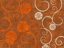 Abstrakter Grunge Strudel auf einem Brown-Hintergrund Stockbilder