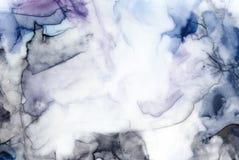Abstrakter grungy Aquarellhintergrund mit schönen künstlerischen Bürstenanschlägen, -kennzeichen und -details stock abbildung
