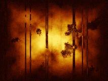 Abstrakter grungy Hintergrund mit vertikalen Zeilen, Staub und Geräuschen. Lizenzfreies Stockbild