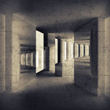 Abstrakter grungy Innenhintergrund, Bau Stockfotografie