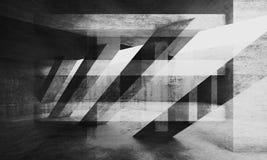 Abstrakter grungy konkreter Hintergrund, Kunst 3d lizenzfreie abbildung