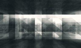 Abstrakter grungy Konzepthintergrund 3d stock abbildung