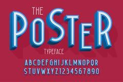 Abstrakter Guss 3d, Buchstaben und Zahlen vector Illustration Stockbild