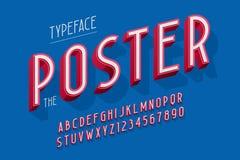 Abstrakter Guss 3d, Buchstaben und Zahlen vector Illustration Stockbilder