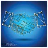 Abstrakter Händedruck-geometrischer Hintergrund Stockbild