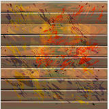 Abstrakter hölzerner Hintergrund mit Tropfen der Farbe Stockfotos