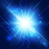 Abstrakter Hallotechnologieblauhintergrund. Lizenzfreie Stockbilder