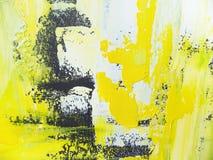 Abstrakter handgemalter acrylsauerhintergrund stockbild