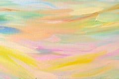 Abstrakter handgemalter Hintergrund auf Segeltuch Stockbild