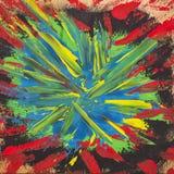 Abstrakter handgemalter Kunsthintergrund Stockbild