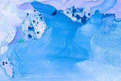 Abstrakter handgemalter Marmorierunghintergrund in der Art der modernen Kunst mit flüssiger freifließender Tinte und Acrylmalerei Lizenzfreie Stockbilder