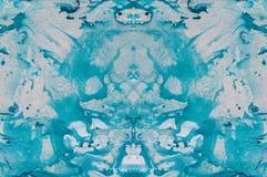 Abstrakter handgemalter Marmorierunghintergrund in der Art der modernen Kunst mit flüssiger freifließender Tinte und Acrylmalerei Stockfotos