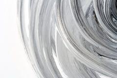 Abstrakter handgemalter Schwarzweiss-Hintergrund Lizenzfreie Stockbilder