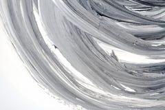 Abstrakter handgemalter Schwarzweiss-Hintergrund Lizenzfreie Stockfotos