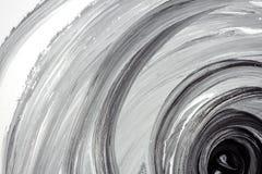 Abstrakter handgemalter Schwarzweiss-Hintergrund Lizenzfreies Stockbild