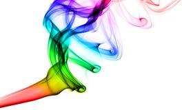 Abstrakter Hauch des bunten Dampfes auf Weiß Stockfotos