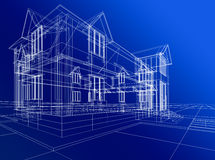 abstrakter Hausaufbau Stockbilder