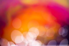 Abstrakter heißer Farbe-bokeh Hintergrund Stockfoto