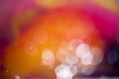 Abstrakter heißer Farbe-bokeh Hintergrund Lizenzfreies Stockfoto