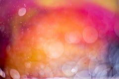 Abstrakter heißer Farbe-bokeh Hintergrund Stockfotografie
