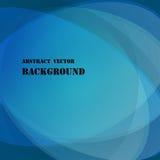 Abstrakter hellblauer Vektorhintergrund mit Ovalen und Ellipsen und Text Lizenzfreie Stockfotografie